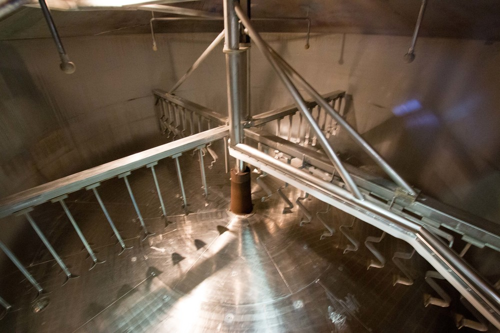 Lauter Tun internals at Welde Brewery