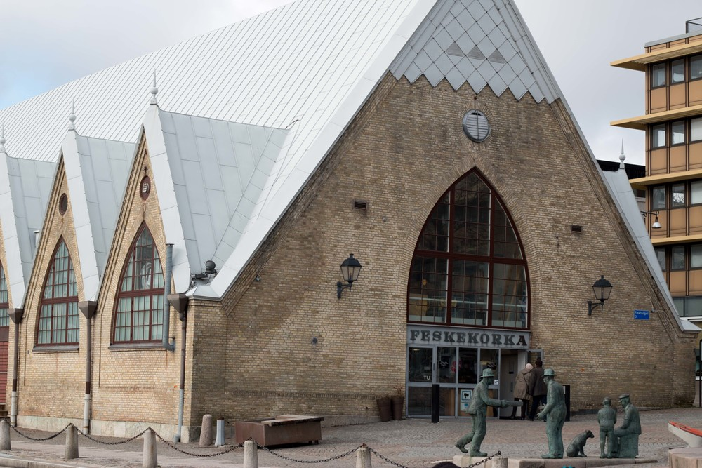 The fish market in Gothenburg built to look like a church