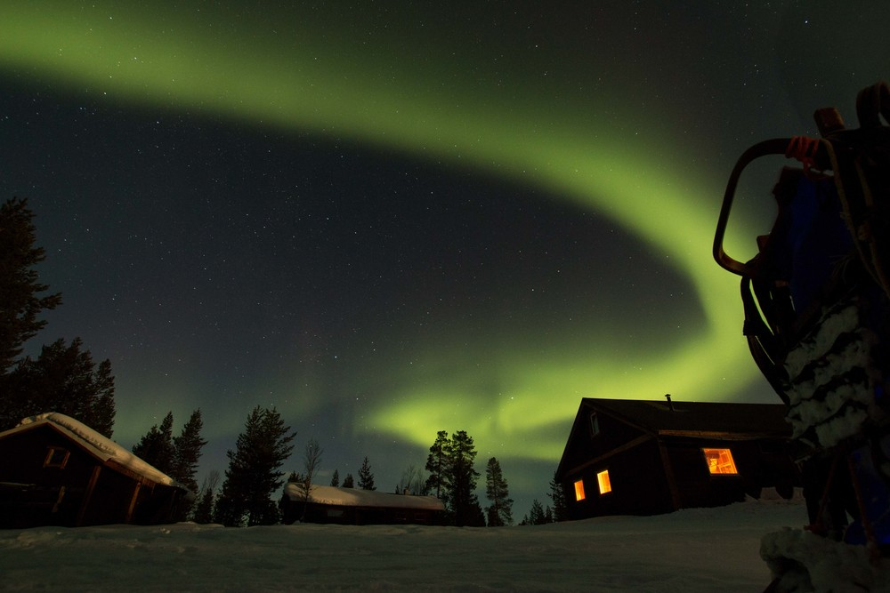 Northern Lights, White Trail Adventures - Kiruna, Sweden - March 2015