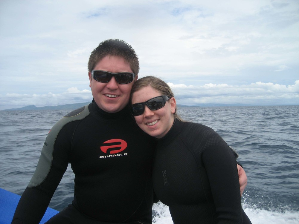 Hanging out on the boat after finishing a dive in the Philippines