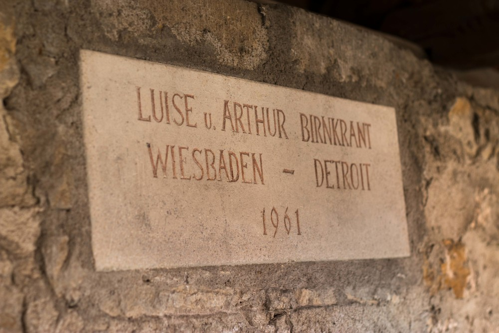 You can make a donation to help preserve the wall and get a stone with your name on it. We found this one from a couple in Detroit! Yay Michigan!