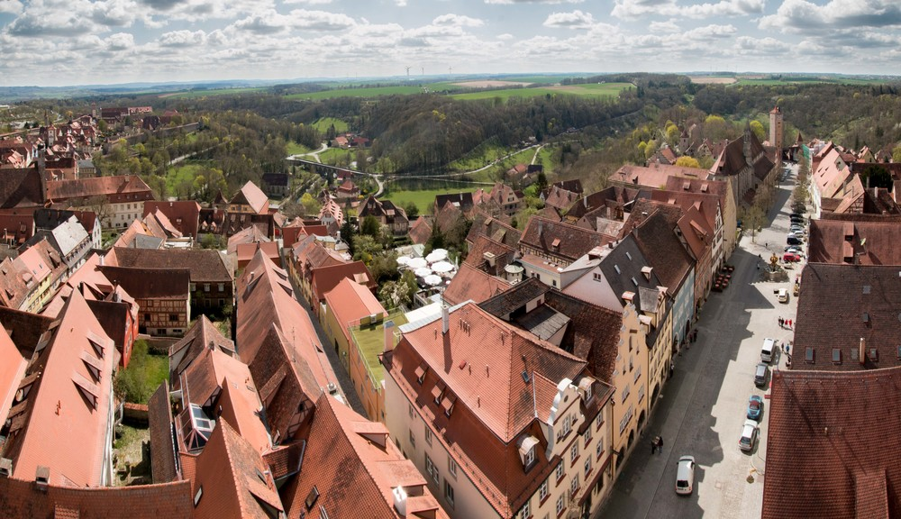 Panoramic view from the top of the Rathaus tower - totally worth the climb and 2 euro admission