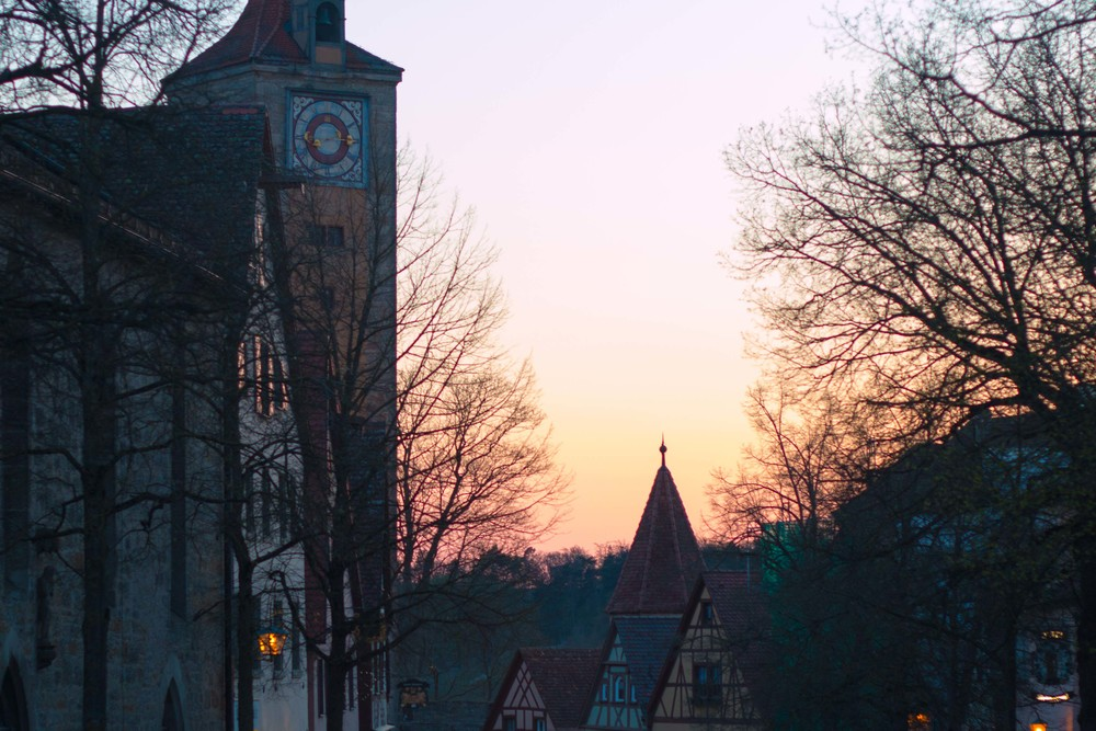 Rothenburg at sunset is stunning. The ancientness of the city really shows