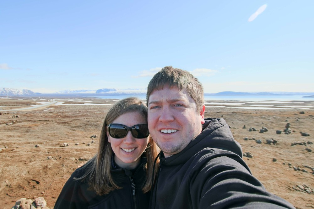 Aaron and I with the Silfra valley in the background
