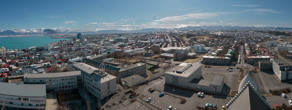 View from the top of the church over Reykjavik