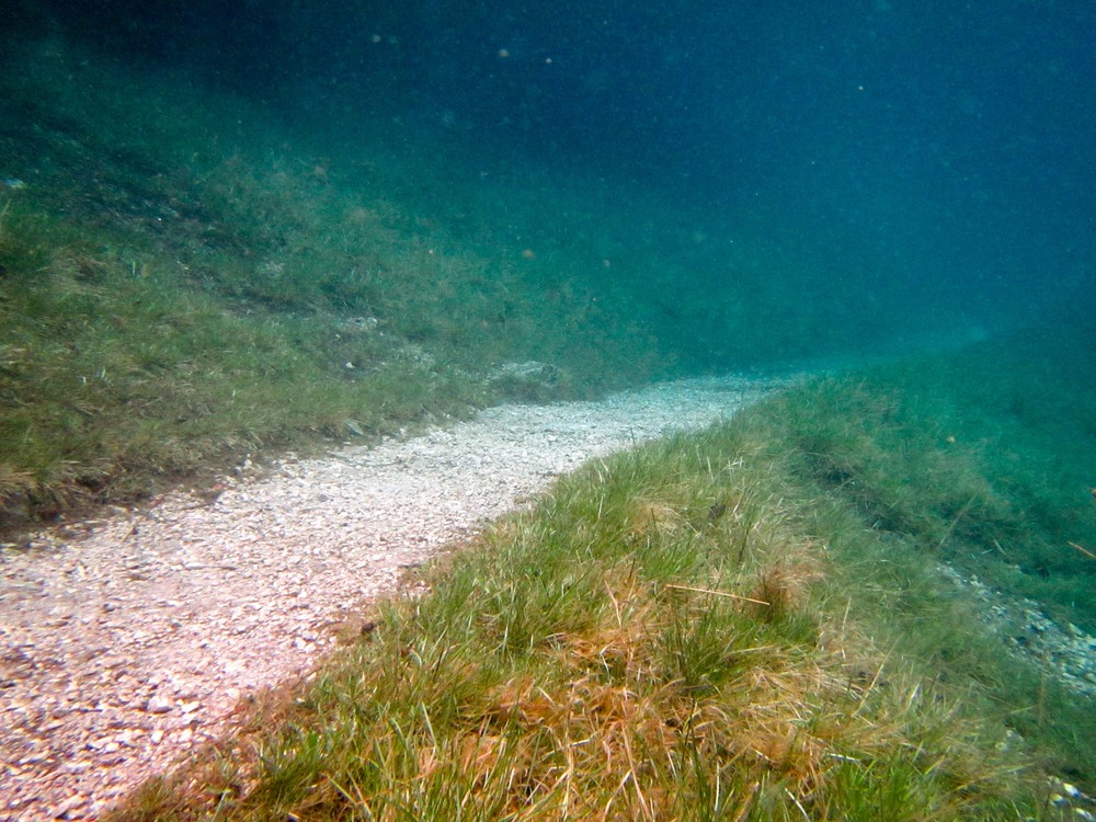 Submerged hiking trails