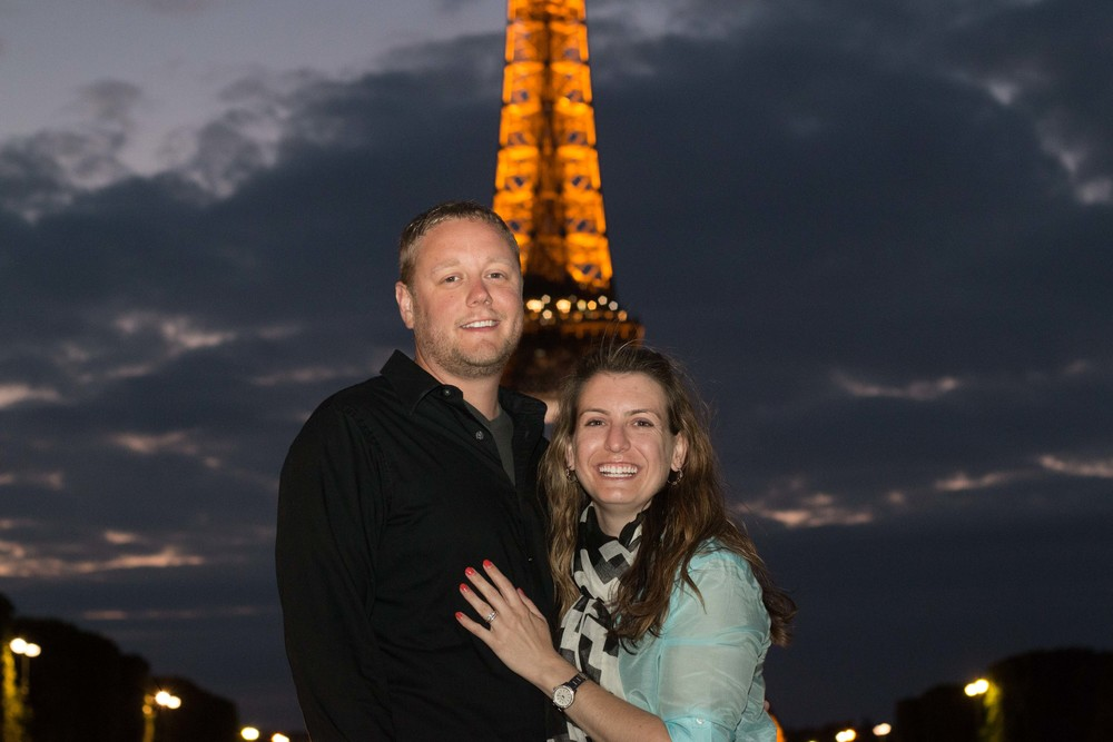 Scott and Sarah in front of the tower