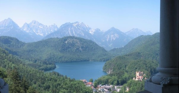 Panoramic (from the last time we were here 5 years ago!) from the throne room overlooking Alpsee