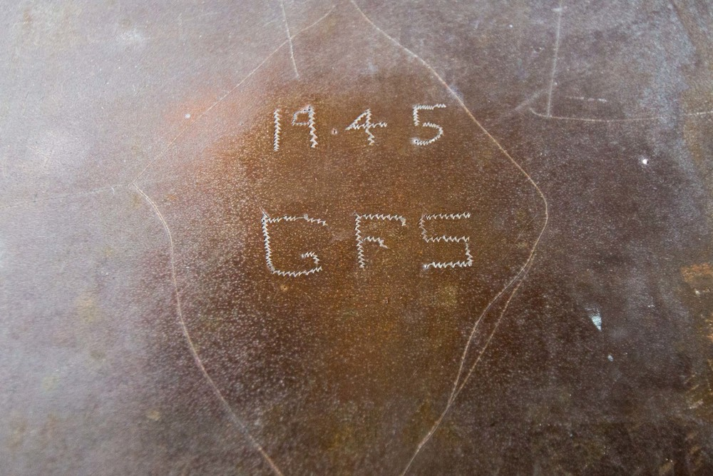 Grafitti from American soldiers when they got here at the end of WWII