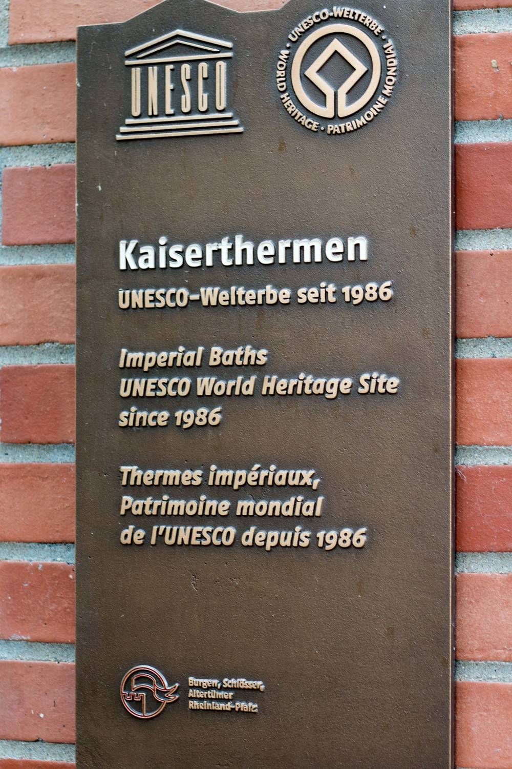Kaiserthermen Roman Bath Ruins are a UNESCO World Heritage Site
