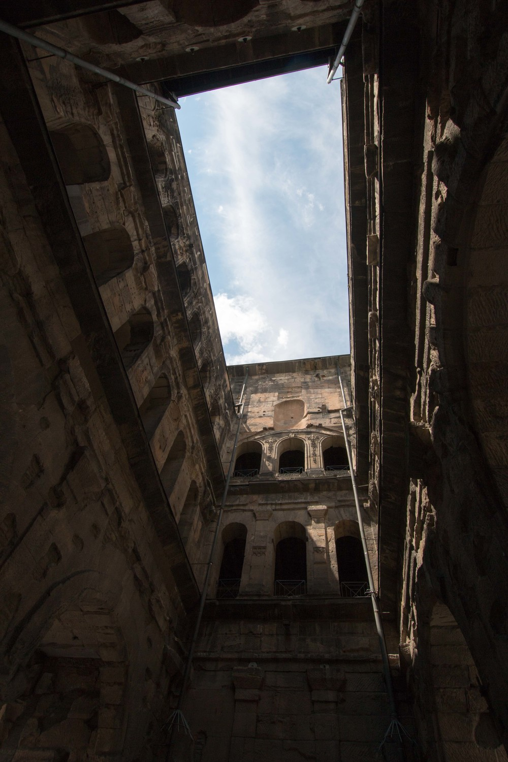 View of the inner courtyard of Porta Nigra.