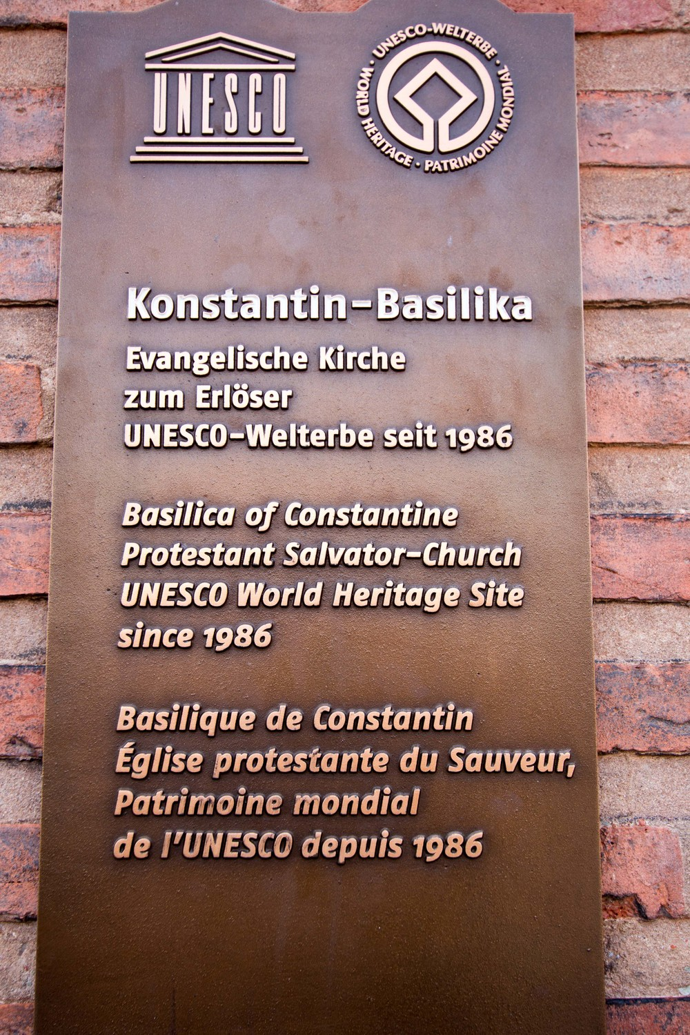 The Basilica is part of the Trier UNESCO World Heritage Sites