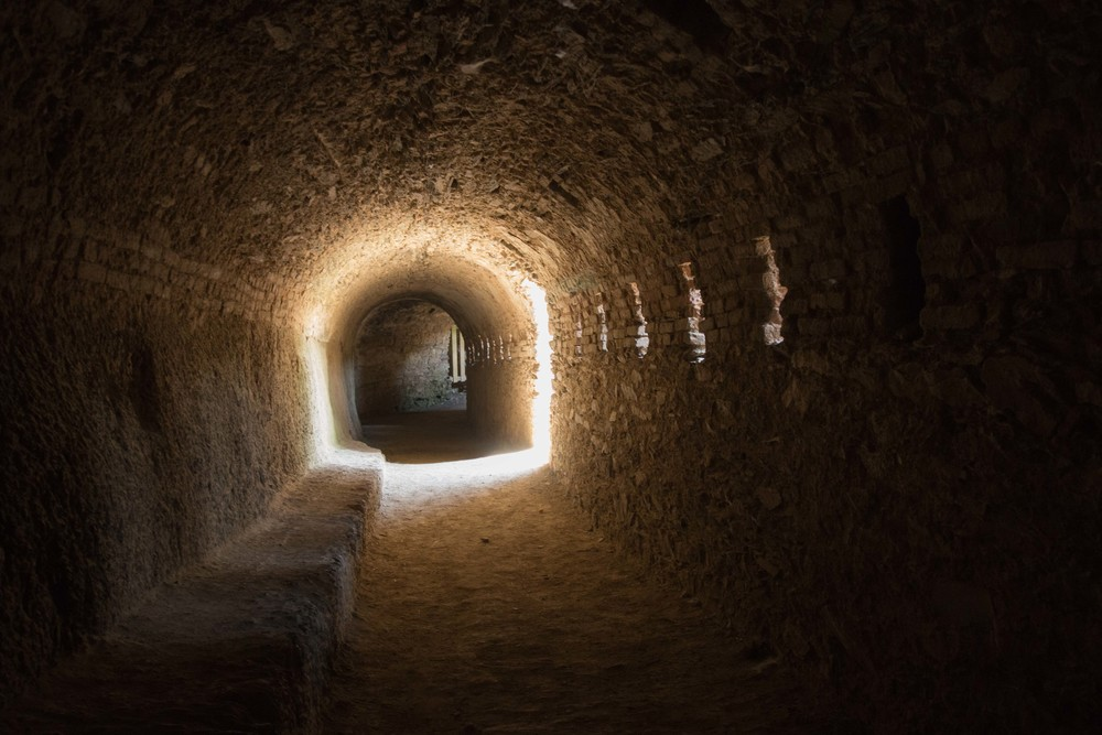 One of the larger tunnels in the castle