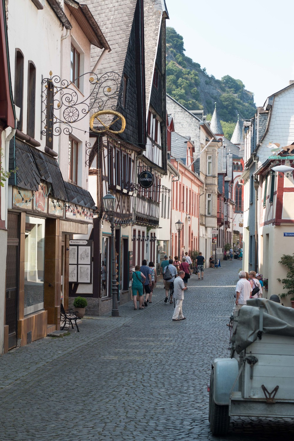 One of the main streets in bacharach