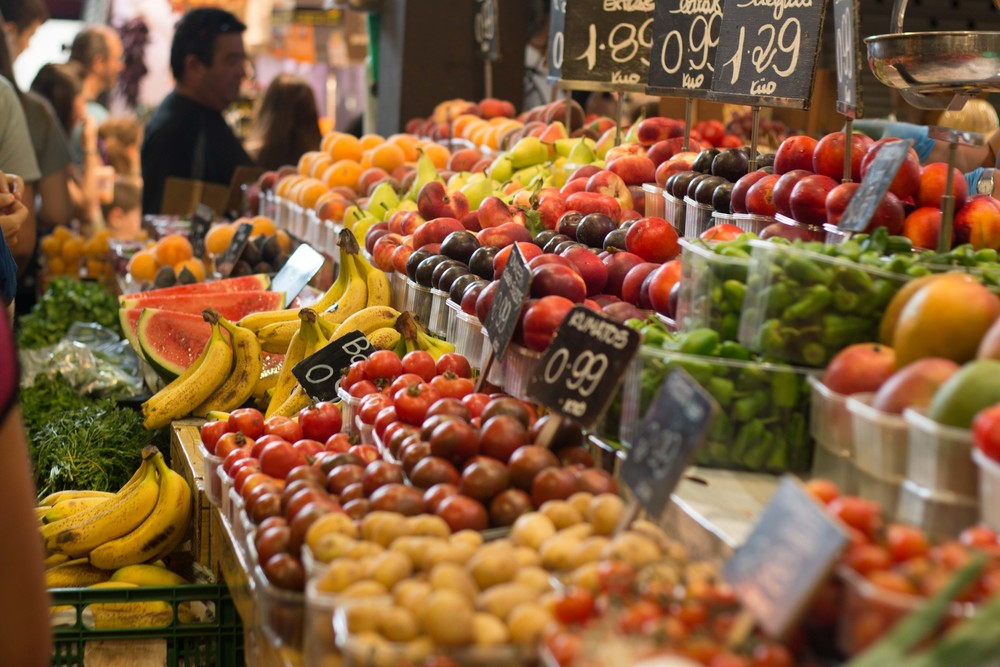 Fresh produce at la Boqueria