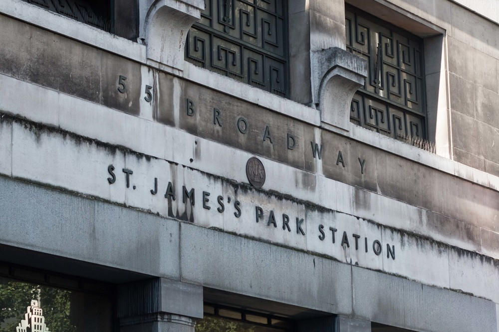Entrance to St. James'S Underground Station