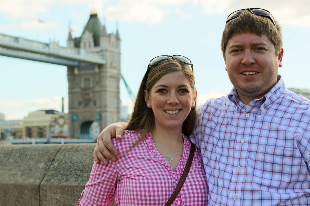 Aaron and I in front of the Tower Bridge, while in the Tower of London