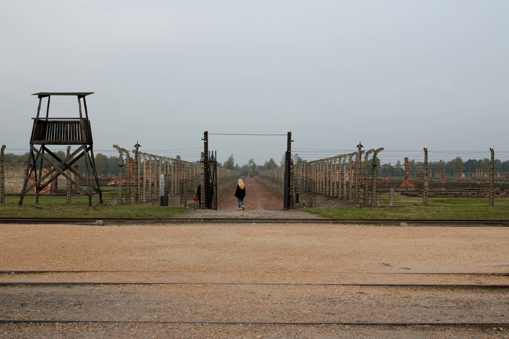 Entrance to the barracks of Birkenau