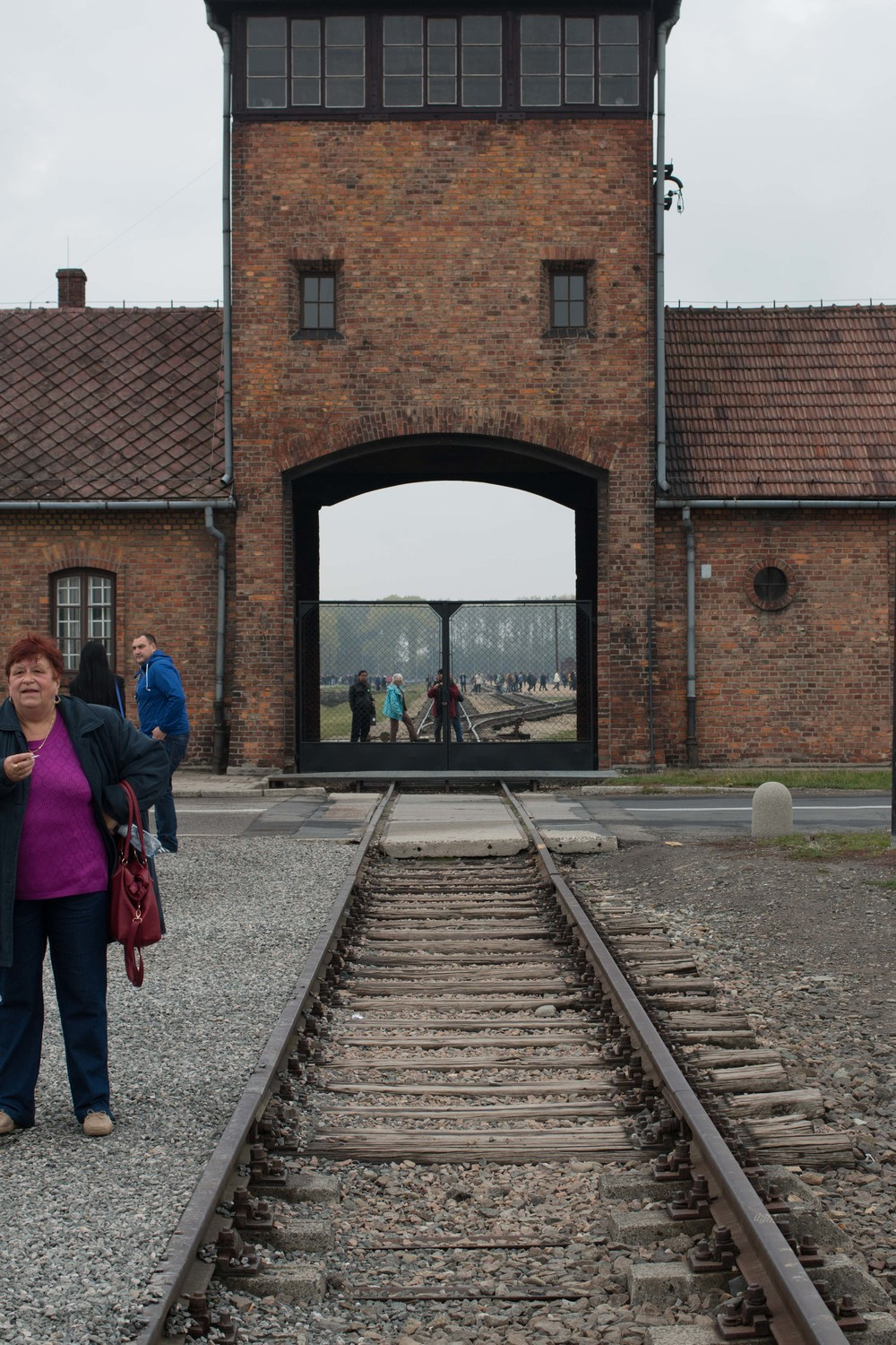 Entrance to Birkenau. Hundreds of thousands passed through here