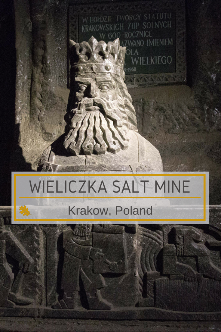 rock Salt Statue of King Kazimerz in Wieliczka Mine