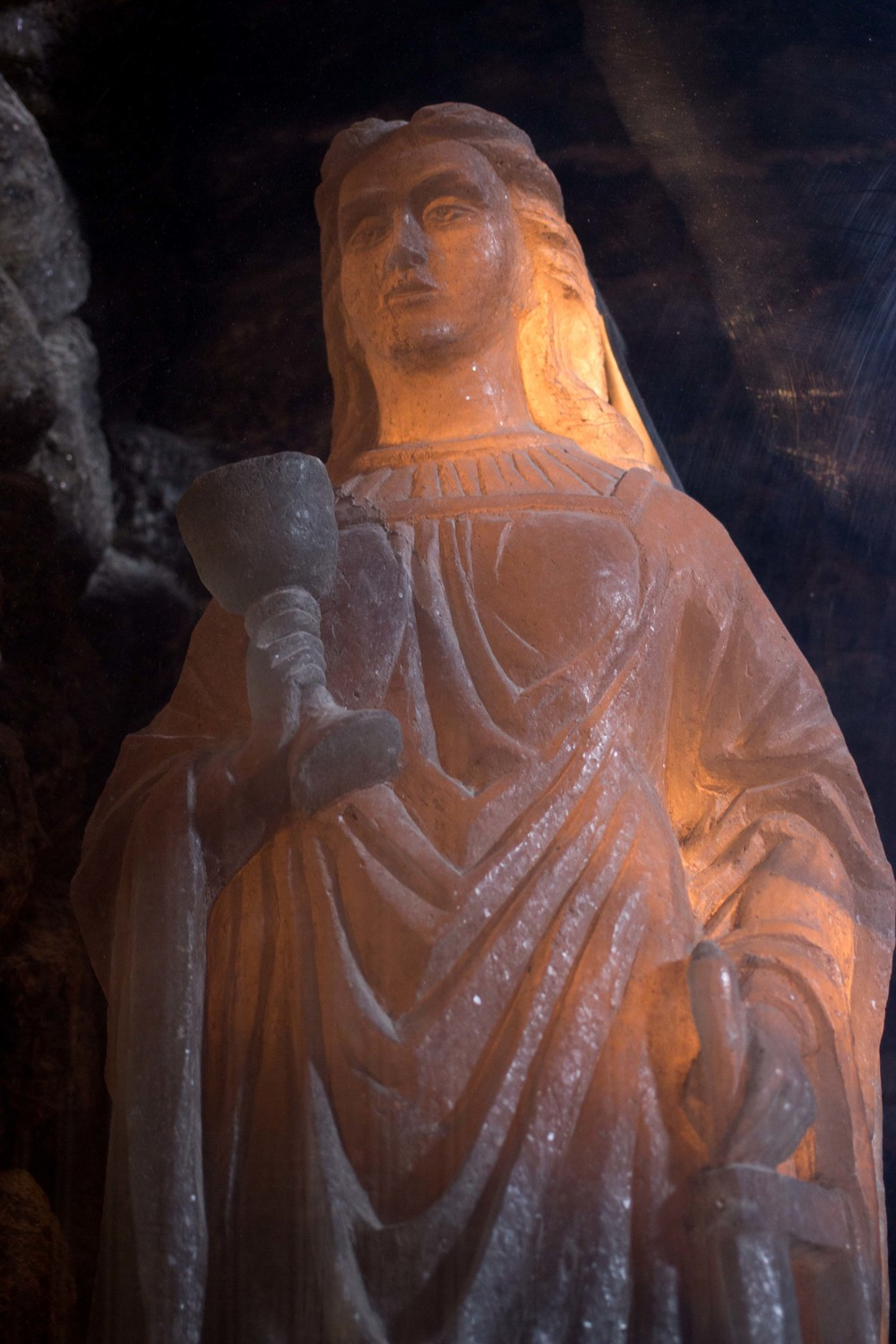 ROCK SALT CARVING IN ST. KINGA'S CHAPEL