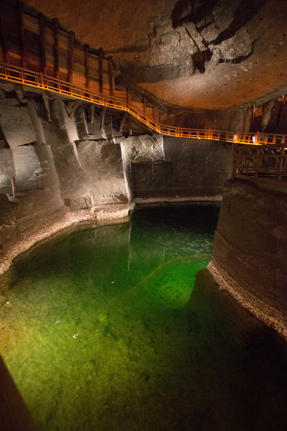 salt lake in the mine