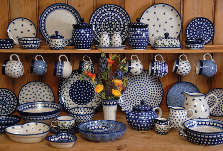 Examples of Polish Pottery.  Source