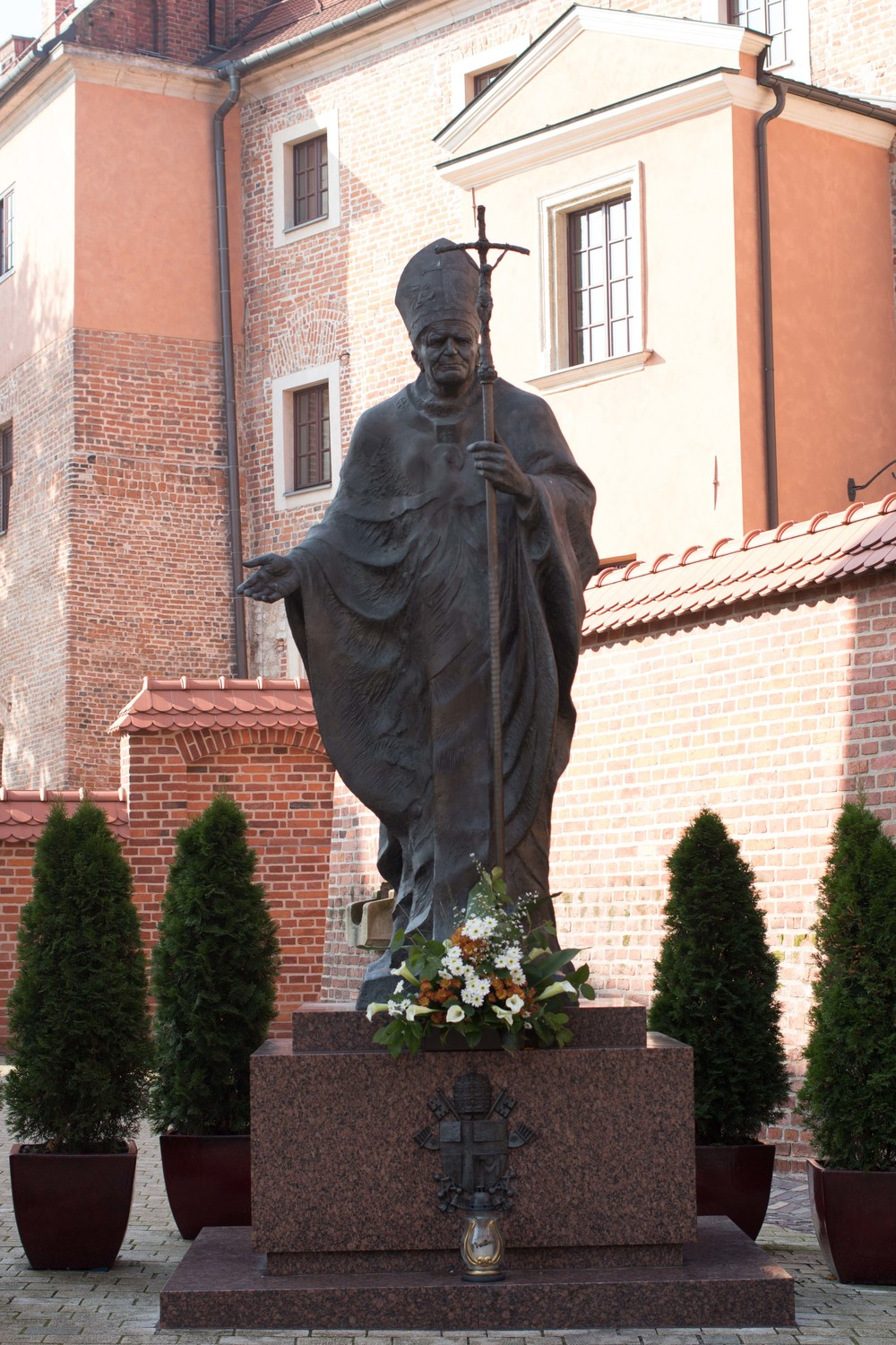 St. John Paul II was born and lived not far from Krakow, and Poland has a strong Catholic tradition, so his likeness is everywhere.