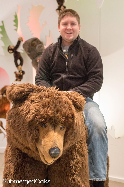Got Aaron on a bear!