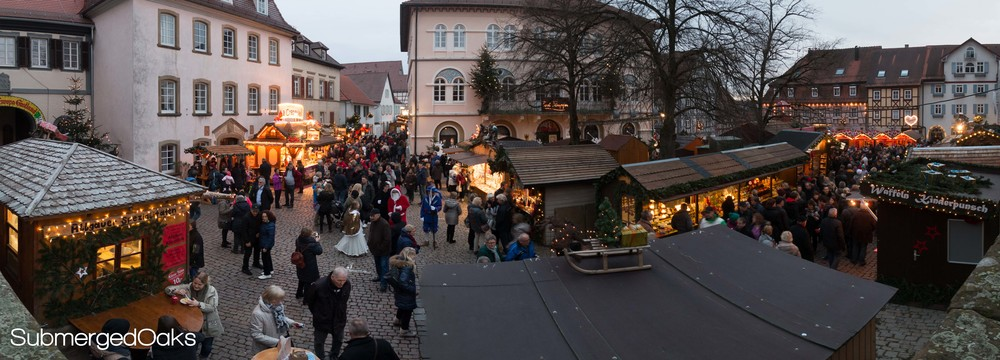 The center platz in Bad wimpfen, all decked out for Christmas