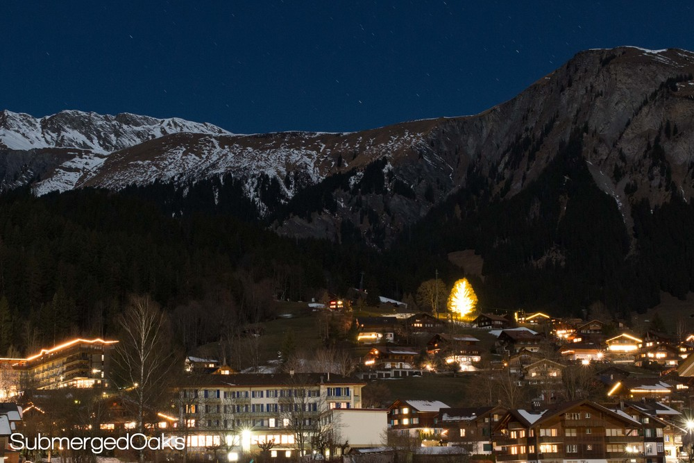 Adelboden and the Swiss Alps at Night
