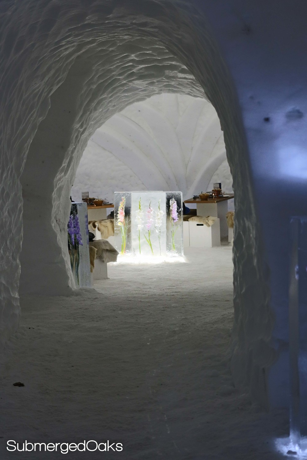 Tunnels in the igloo leading to different rooms