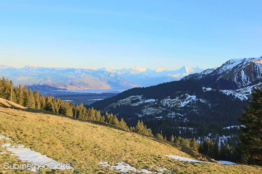 Scenic overlook on the drive from Adelboden to Schwarzsee