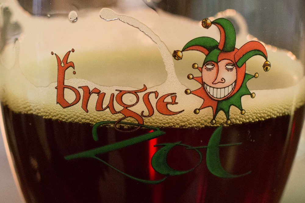 beer tasting! This is the Brugse Zot Dubbel