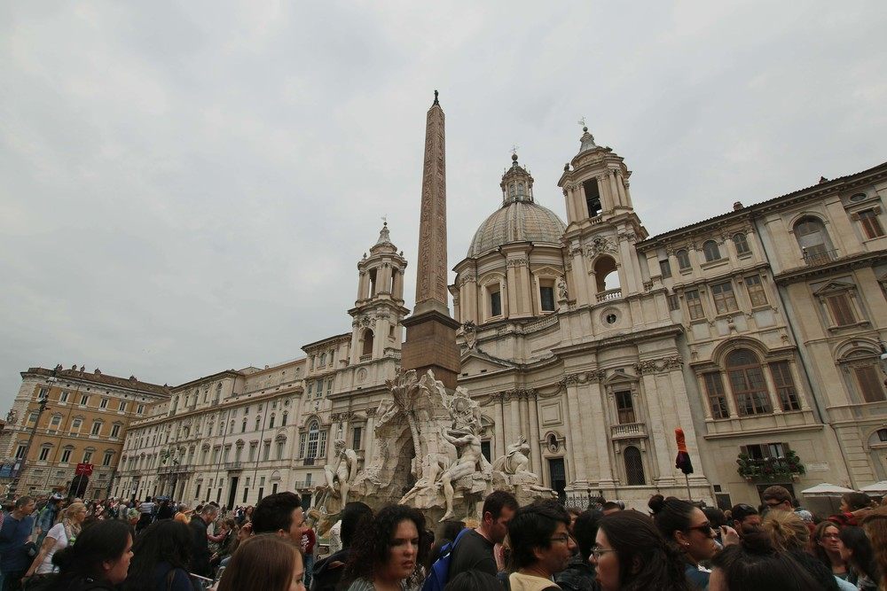 The central fountain at Piazza Navona