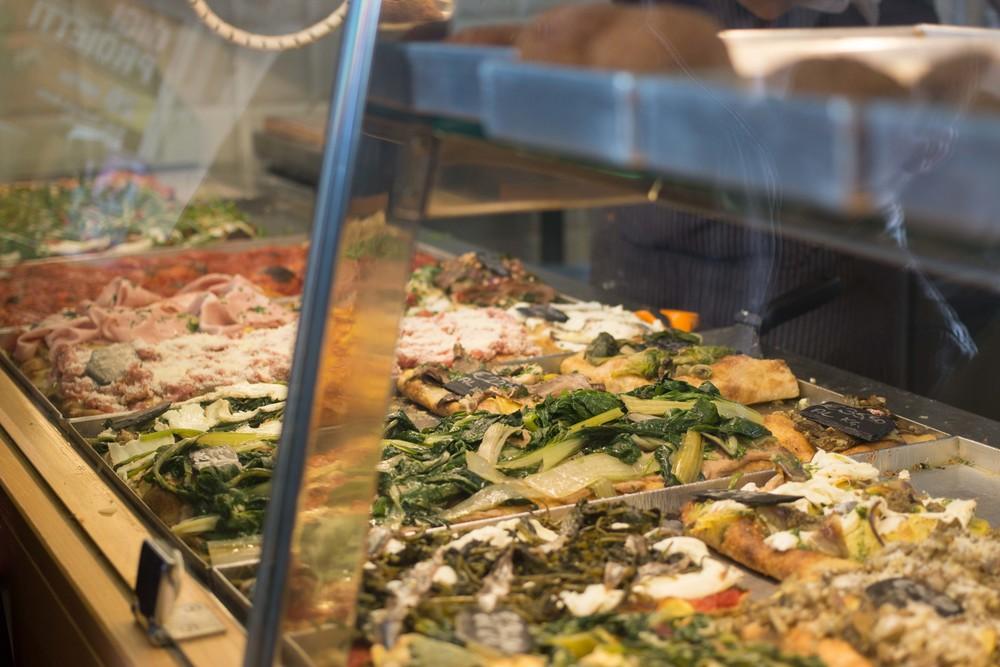 Pizza selection at Bonci's