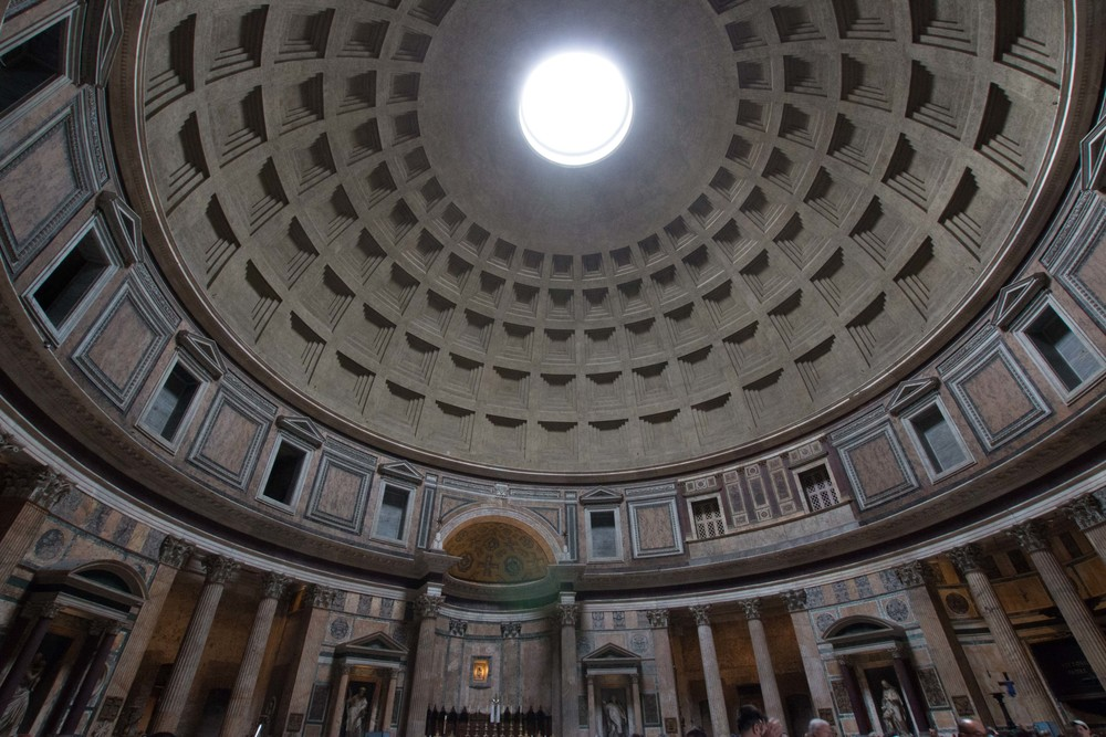 The inside of the dome in the Pantheon - amazing!
