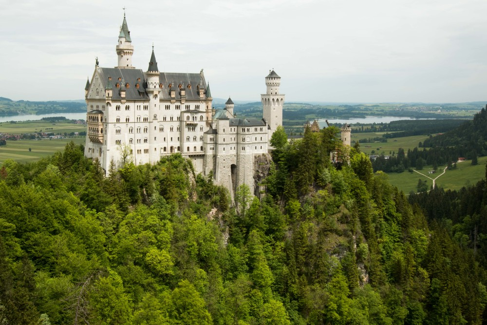 Neuschwanstein castle in Bavria