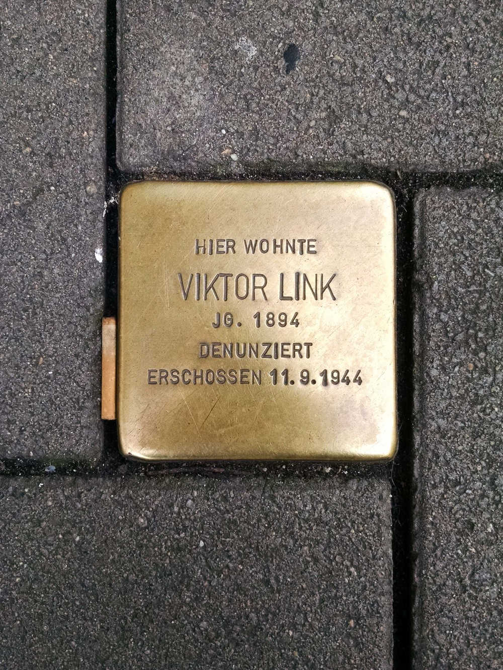 Viktor was shot in September of 1944