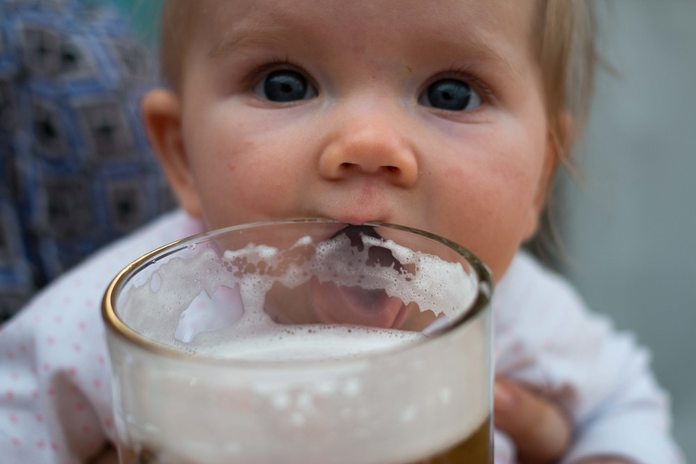Evelyn thought our idea to go to the beer festival was a good one :)