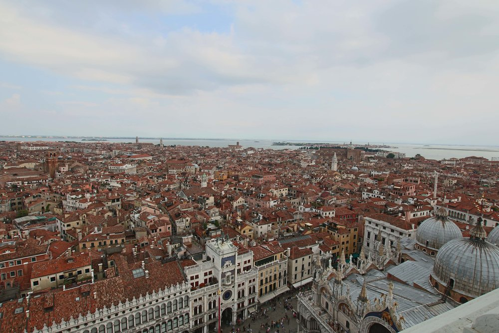 View from the top of the Campanile in Piazza San Marcos