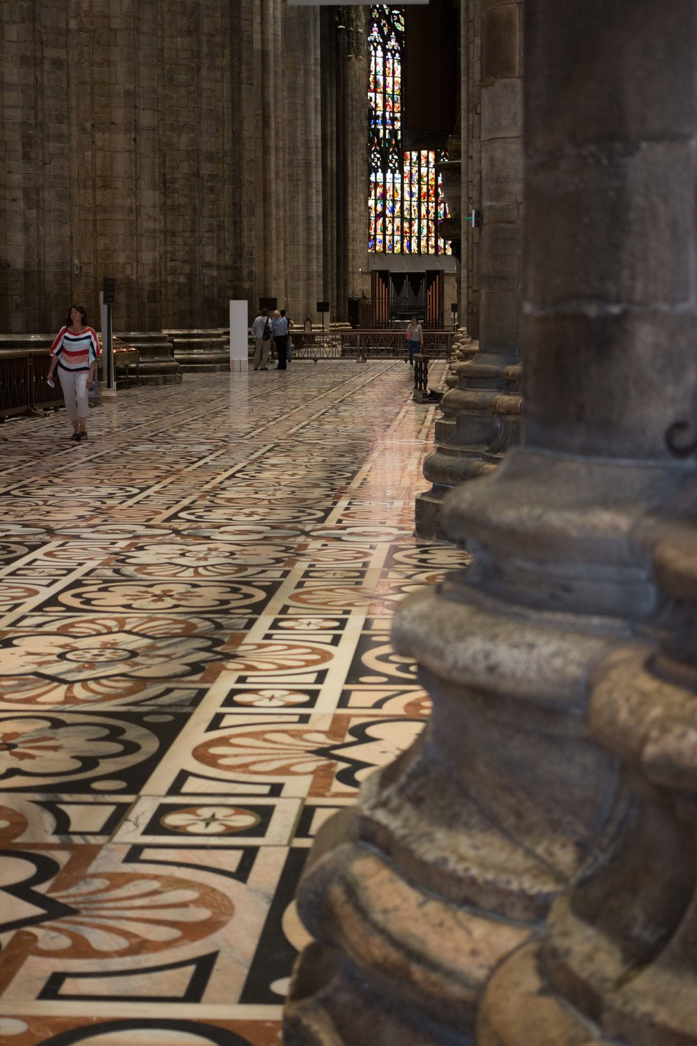 Ornate flooring of the milan Cathedral