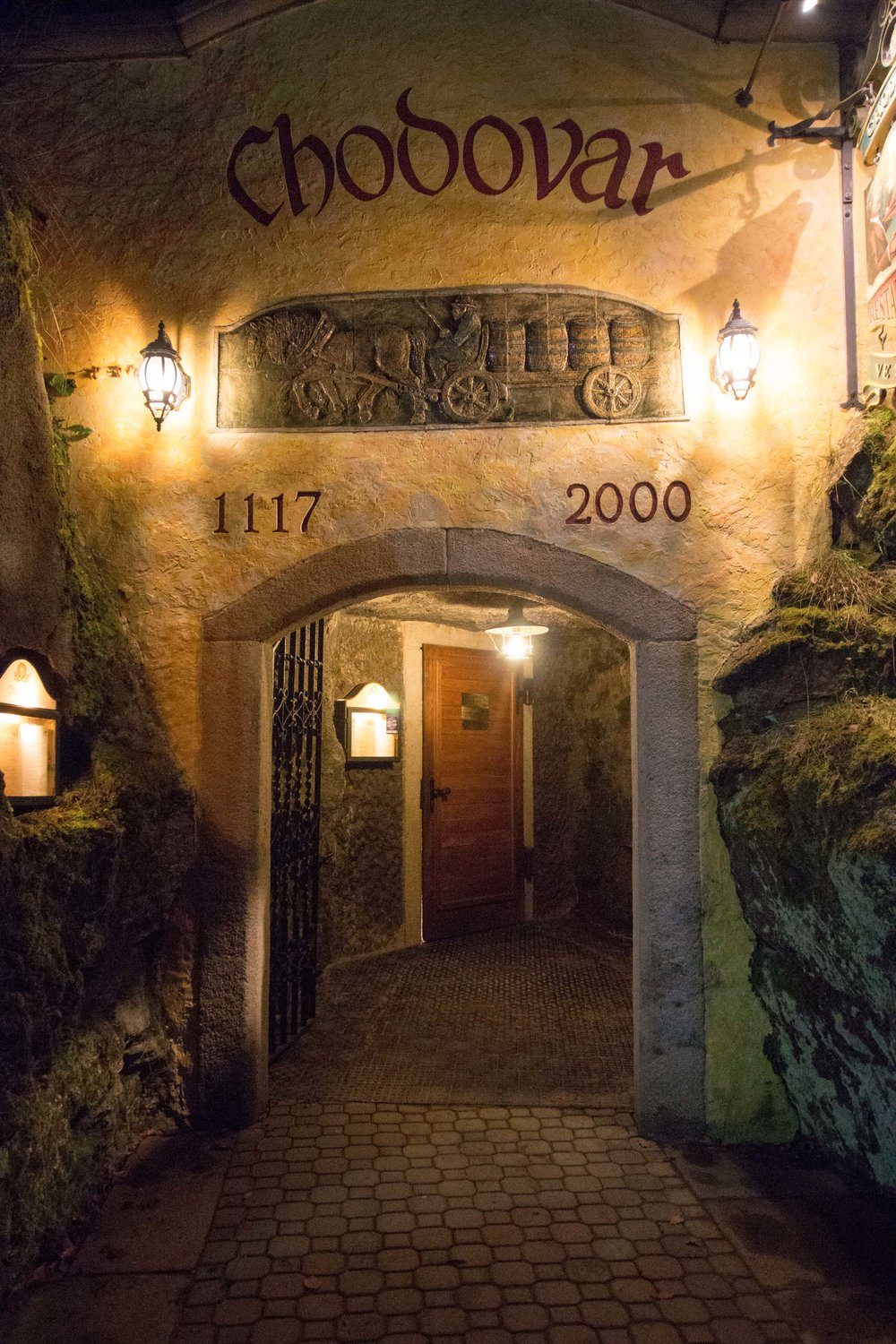 Entrance to the cave restaurant