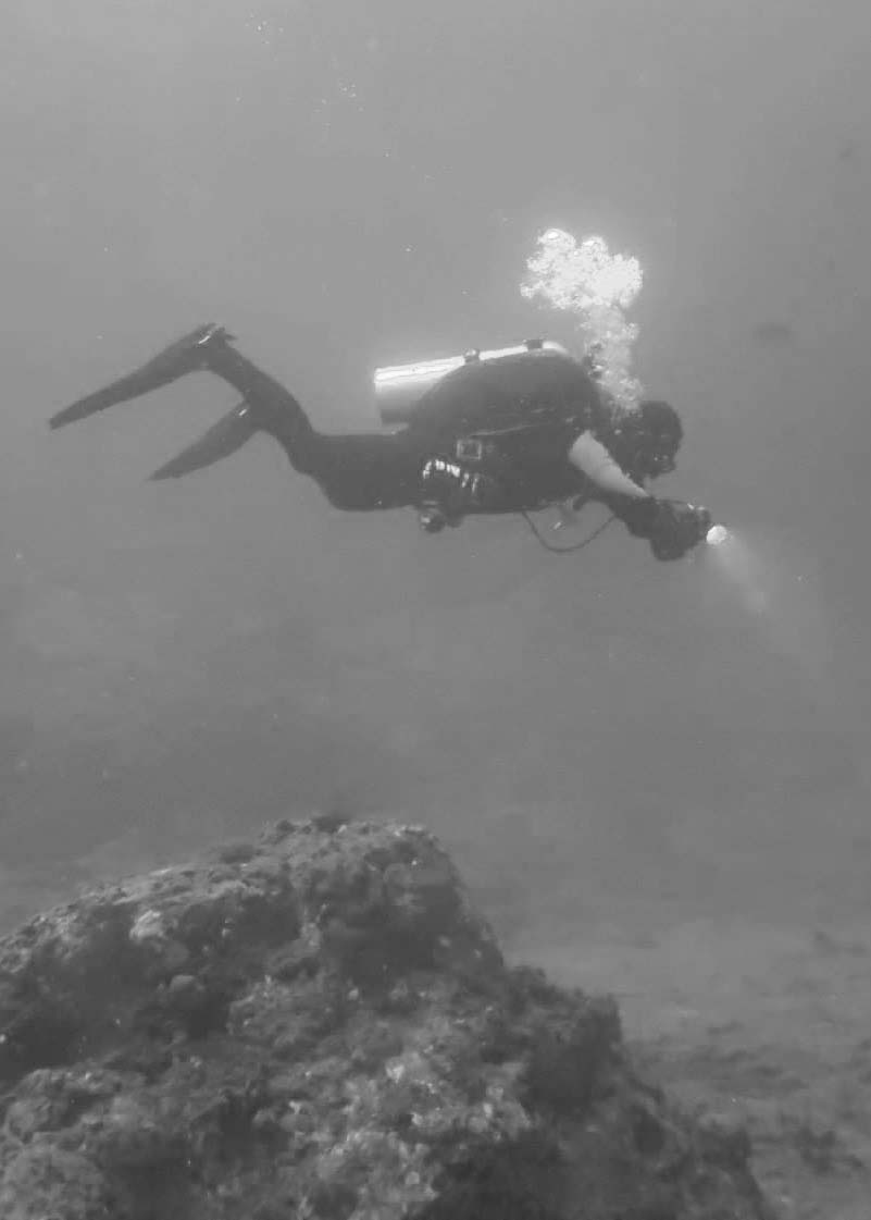 Aaron under water. photo courtesy of  Dustin Ainsworth  of  SouthEast Texas Scuba