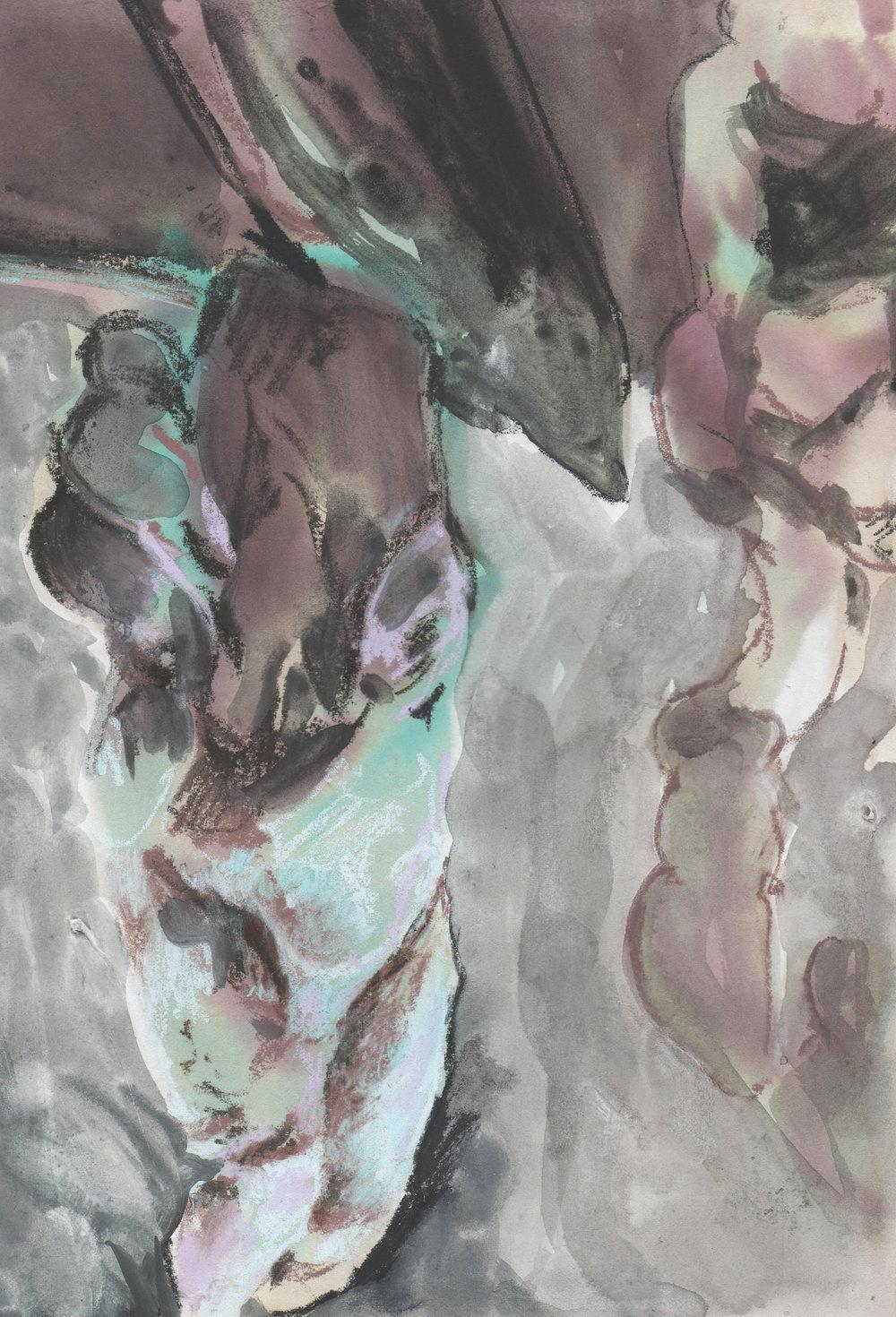%22Loom II%22_21x35cm_Ink Pastel and Natural Clays on Paper.jpg