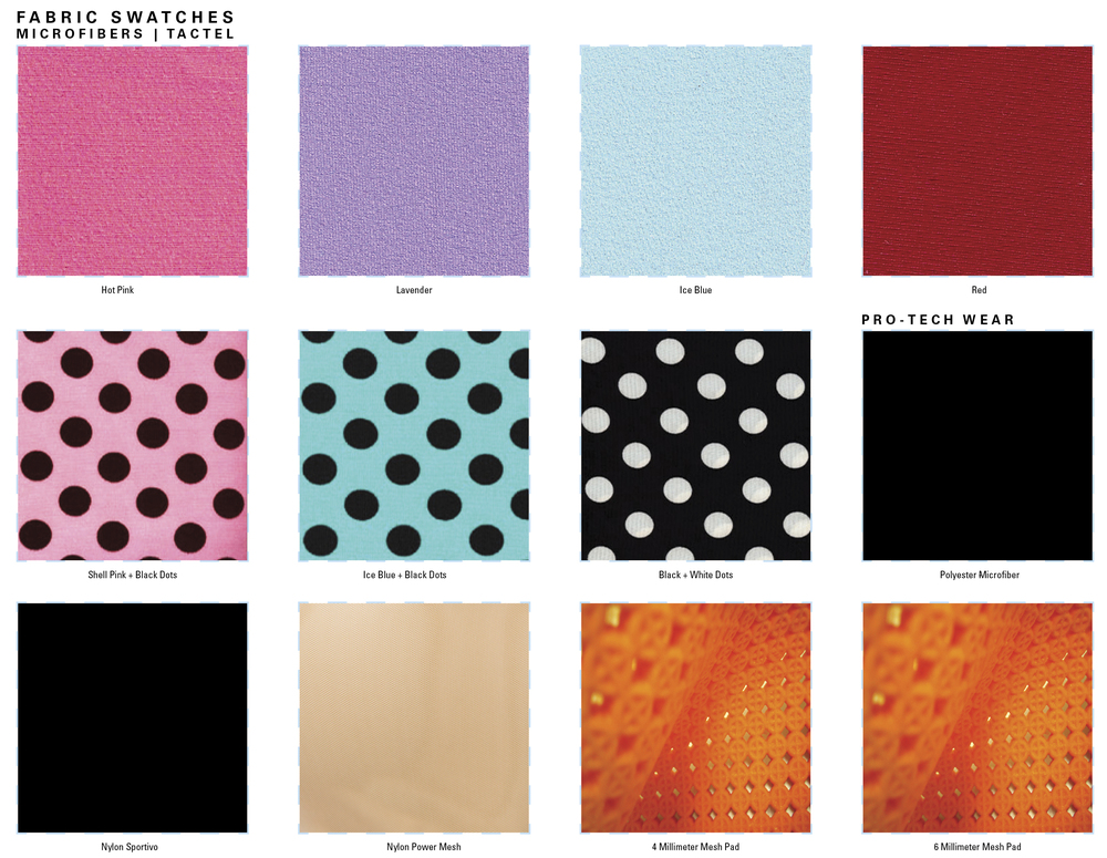 Color Chart Hot Pink Ice Blue Leopard Pink Zebra Red Metallic