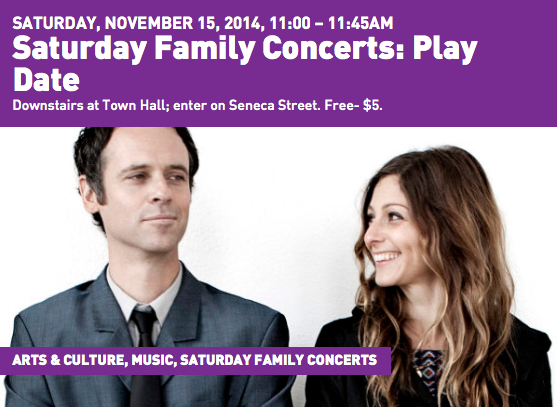 Saturday Family Concerts @  Town Hall Seattle