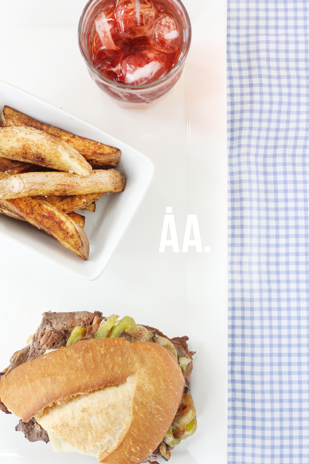 AndiAndrea's favorite shots of 2014: Philly Cheesesteak food shoot