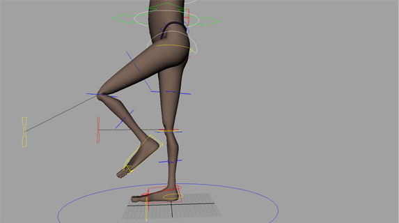 FK/ IK legs. The legs can be controlled in both FK and IK. Both can be squashed and stretched for quick cartoon movement. The IK feet have peel heel, toe tap and toe pivot attributes.