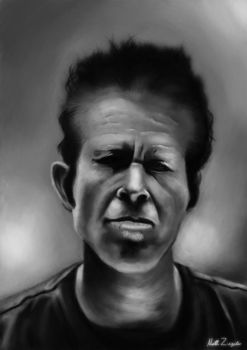 Tom Waits Portrait.